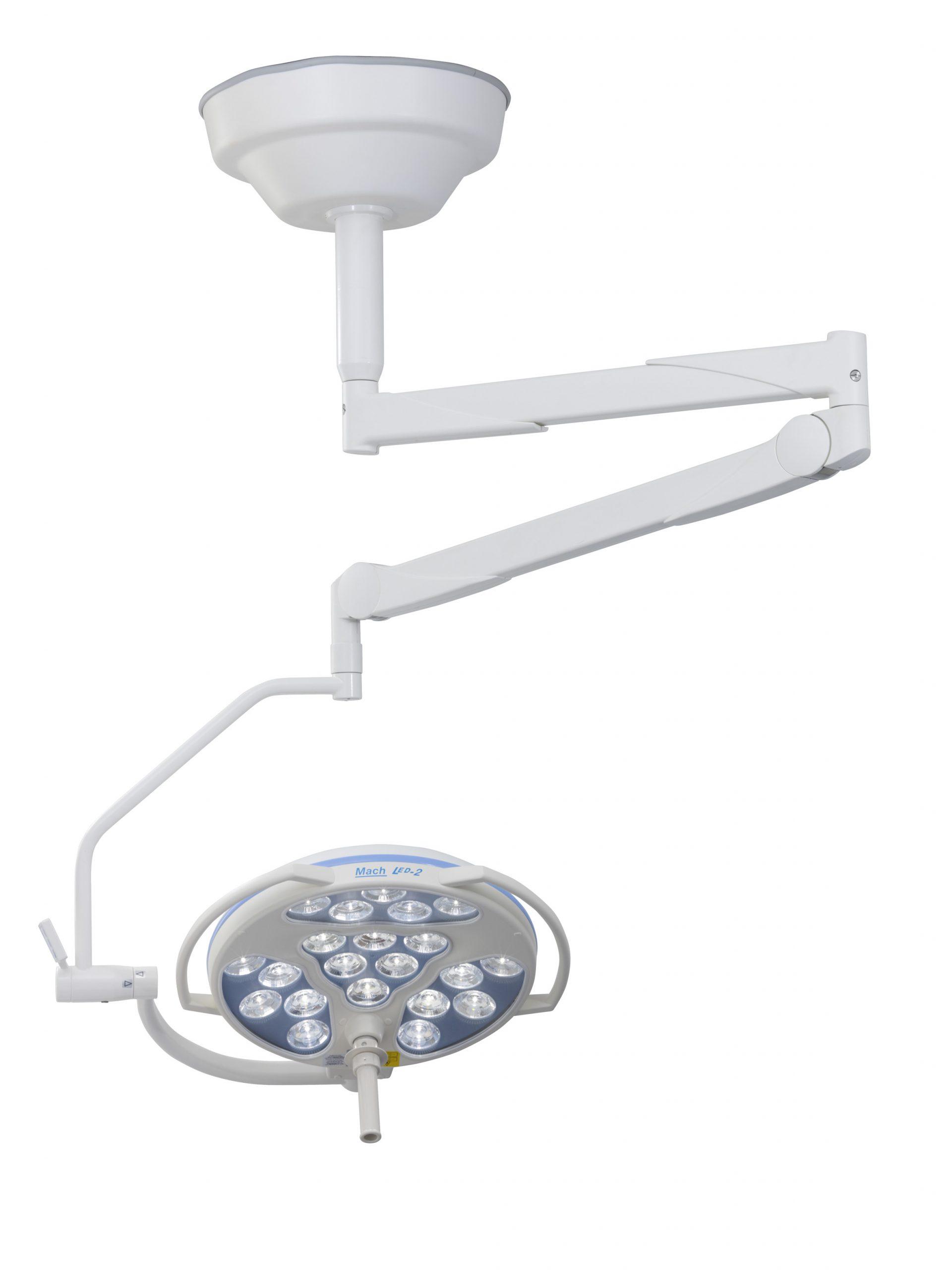 Onderzoekslamp-LED2-normale-plafondhoogte-Cardan-beugel